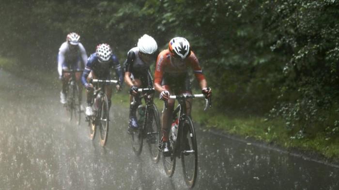 Andar en bici un día de lluvia