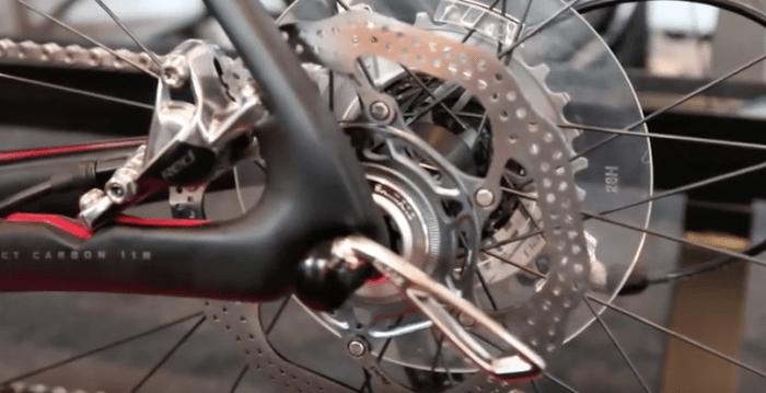 freno de disco trasero de bicicleta